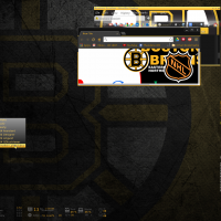 Far too much freetime, ManjaroBox with a cobbled together Boston Bruins scheme....