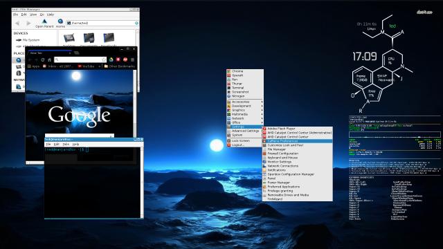 ManjaroBox(OpenBox) Dark Blue dawn theme, same on Google