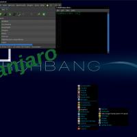 Blue/Green Openbox, Clearlooks Dark Blue GTK2 best of Darkgreen Icons, Flatbed Ble Cursor, ArchBox .OBT (Openbox Theme)