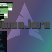 A little variation on the same Manjaro/Arch Openbo, Melina GTK, Best of Blue icons, UEBlue Cursor and Archbox .OBT