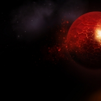 Exploding Red Planet