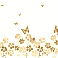 Spring Flowers And Butterfly Brown