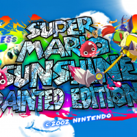 Super Mario Sunshine Painted Edition Wallpaper