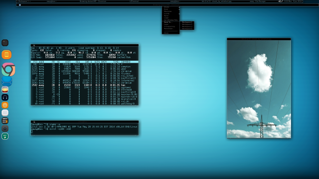 Manjaro Linux and Fluxbox 2014-06-09