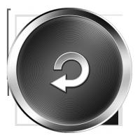 Music Icon Gray rewind