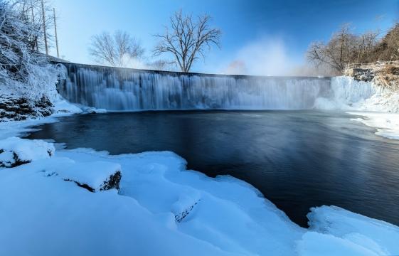 Root River Falls Winter