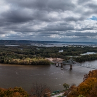Lansing Iowa Bridge Over The Mississippi River