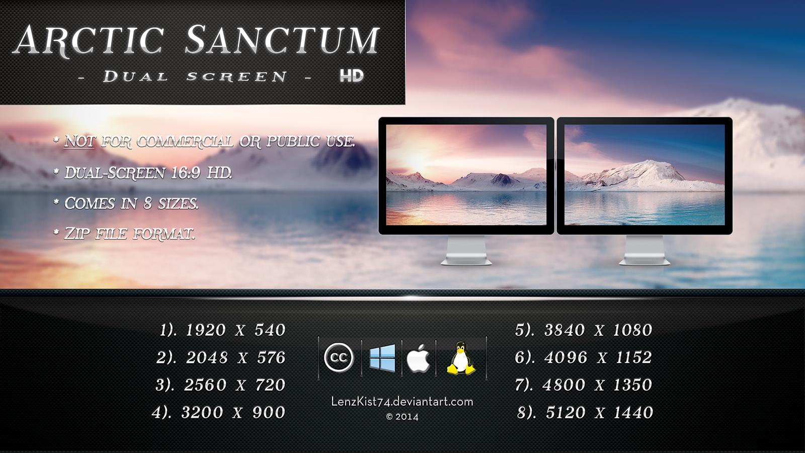 Arctic Sanctum. Dual-Screen HD 16:9 x 2.