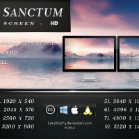 Arctic Sanctum. Dual-Screen HD 16:9 x 2.