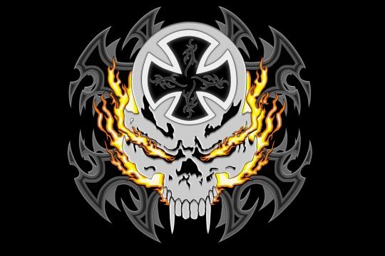flaming skull By tylerxy d2ro7ep