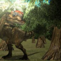 Startled Dilophosaurus