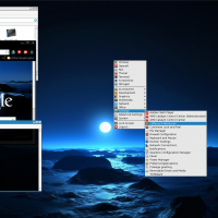 ManjaroBox(OpenBox) Dark Blue dawn theme, same on Google Chrome, Azenis Icons and random GTK2 and OBT themes