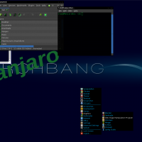 Blue/Green Openbox, Clearlooks Dark Blue GTK2 best of Darkgreen Icons, Flatbed Ble Cursor, ArchBox .OBT (Openbox Theme)