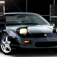 "ManjaroBox, Wallpaper; Black Formula Fiero notchback, I used to own a white one modified with a 3.8Supercharged v6, Blackfate GTK2, Grey-Scale .OBT, did a ""design your own theme@Chrome, Polar looks2 Icon set"
