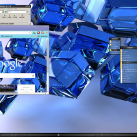 Arc Angels BBCURVE Style, BluCube Wallpaper along with same theme for Chrome.....and yes it is BB4WIN