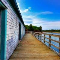 PEI Beach Boardwalk - HDR